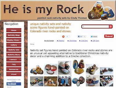 unique nativity sets, painted rocks for sale, Cindy Thomas