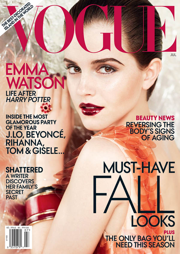 emma watson vogue us. Emma Watson graces the cover