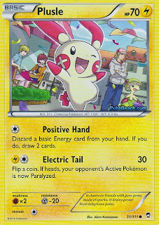 Plusle Furious Fists Pokemon Card