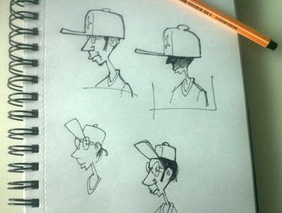 wearing a cap