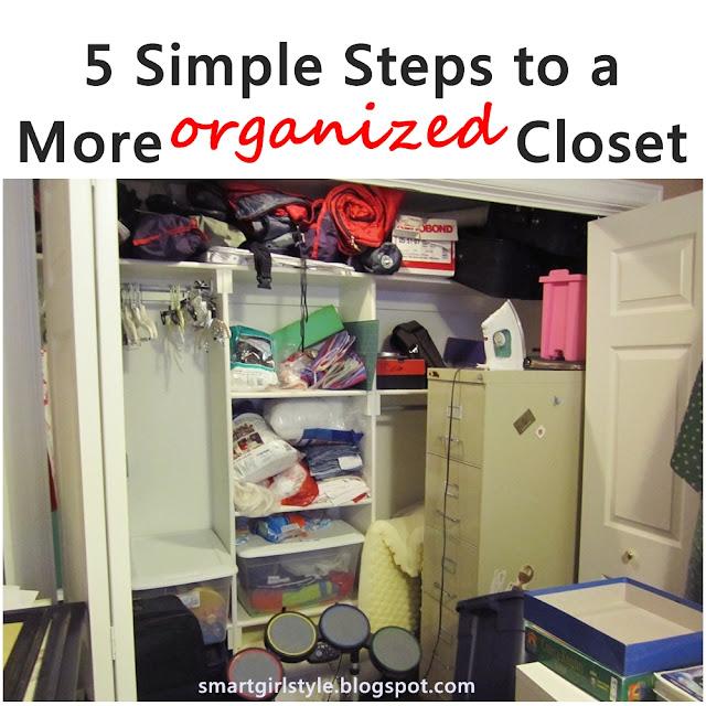 Smartgirlstyle How I Organized My Junk Closet