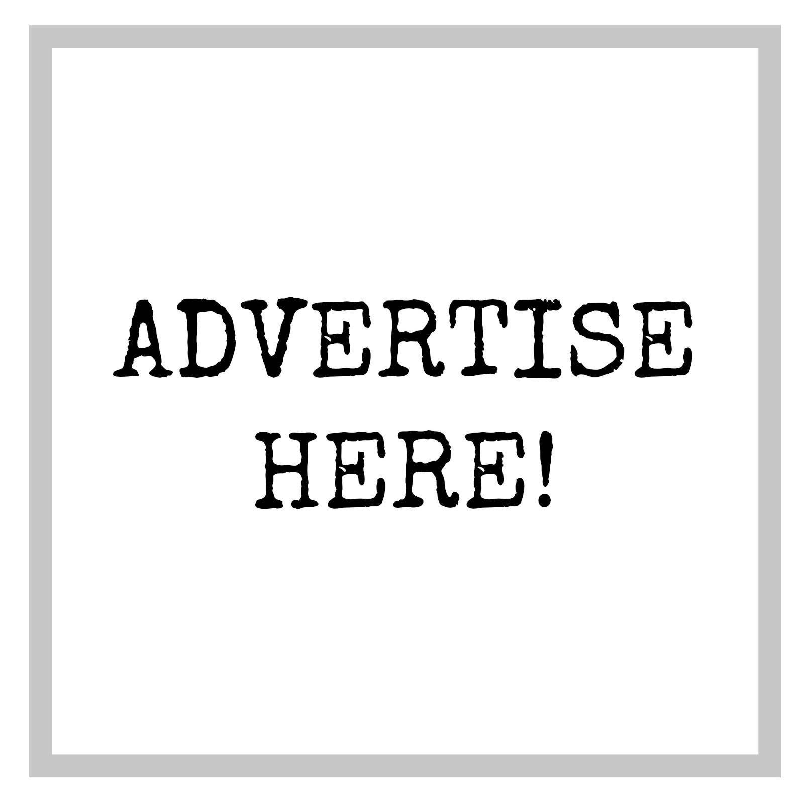 Advertise on my sidebar!