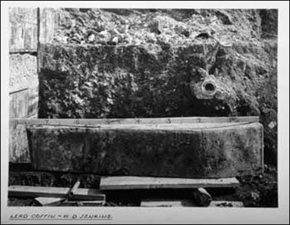 Lead coffin of William Daniel Jenkins