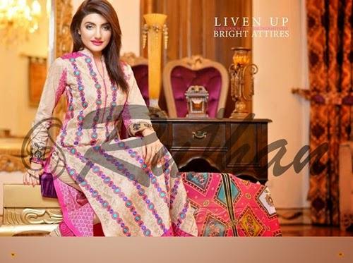 Rujhan Fabrics Eid Collection 2014
