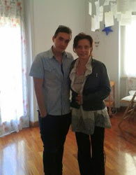 Nicoletta con Federico Cresta nello studio di Terni