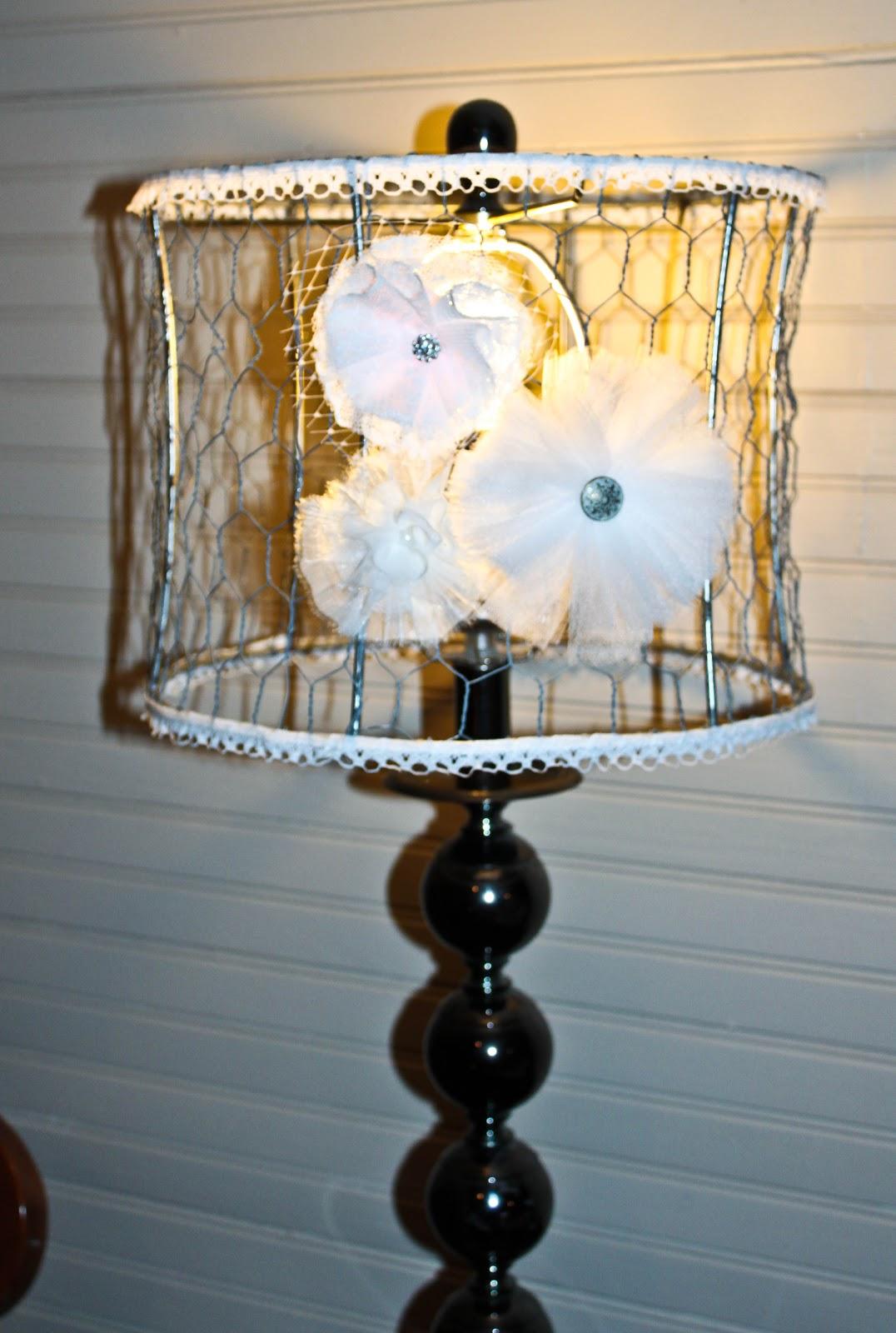 What a Little Birdie: Chicken Wire Lampshades
