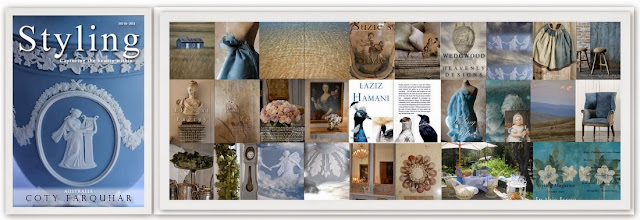 OCTOBER ISSUE OF STYLING MAGAZINE - 2013 - CELEBRATING THE COLOUR BLUE - WEDGWOOD - SEASIDE  & MORE
