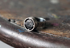 Rough tourmaline silver ring