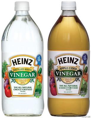 White and Apple Cider Vinegar