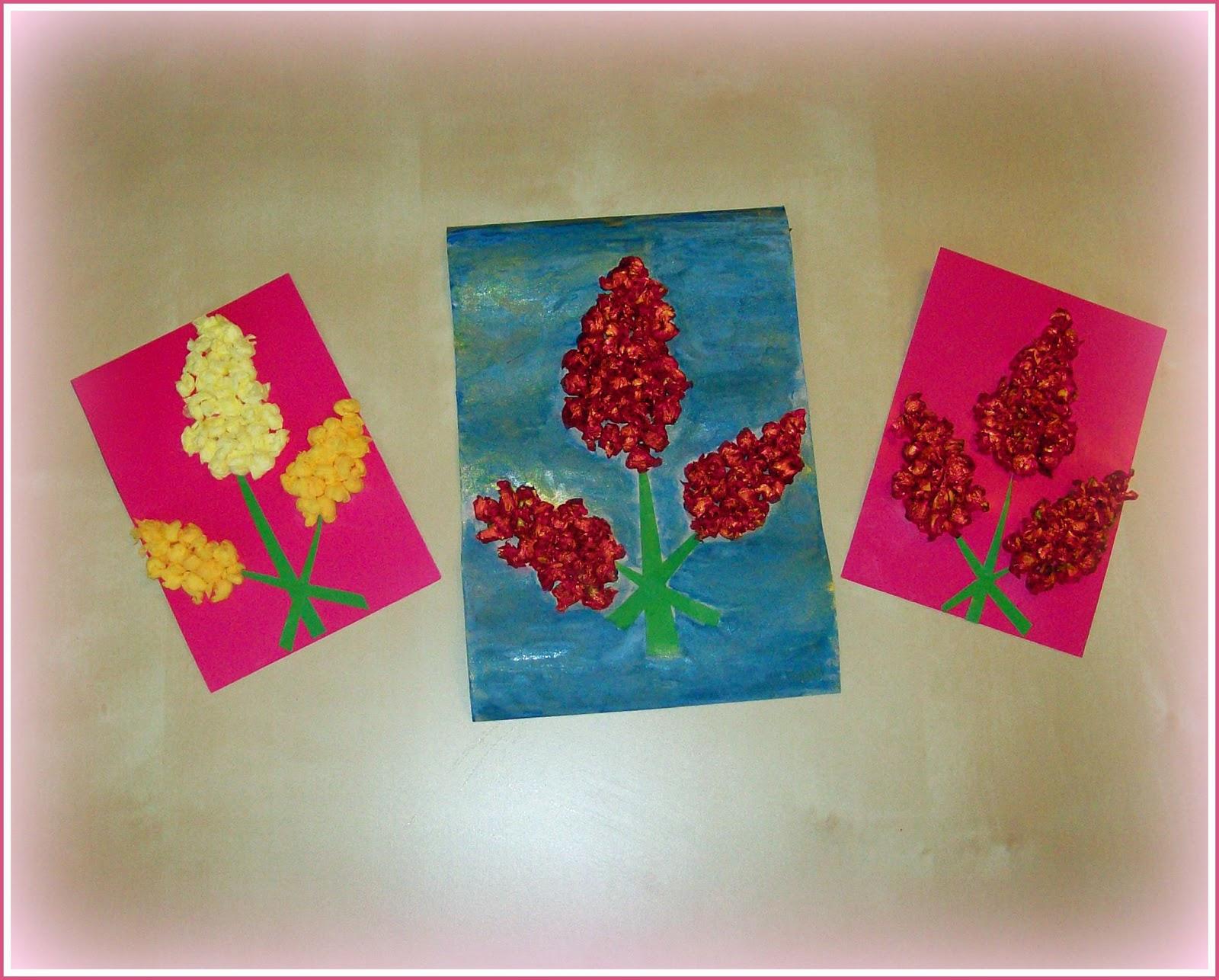 Открытка из салфеток цветы 47
