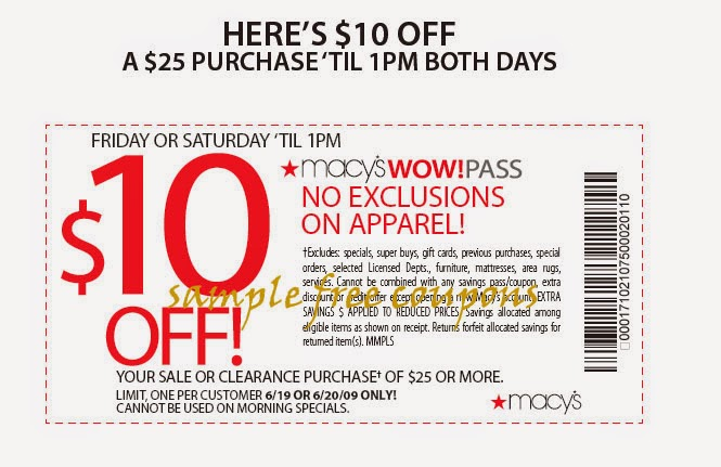 Enter a single Macy's coupon into the box to redeem savings on online orders. 9. Macy's printable coupons can also be saved on your mobile device when you want to redeem them in-store. If you arrived at the final checkout step but your Macy's promo code wasn't applied, go back and check the spelling, exclusions or expiration date.
