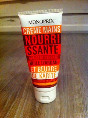 Crème pour les mains Monoprix à l'huile d'Argan et au beurre de karité