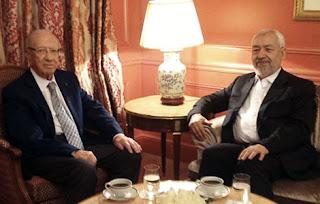 Rached Ghannouchi et Béji Caïd Essebsi