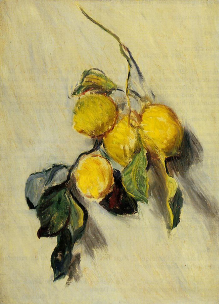 """Branch of Lemons"" by Claude Monet"