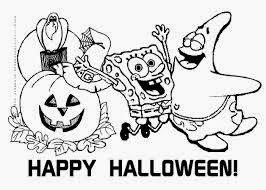spongebob halloween coloring pages 1