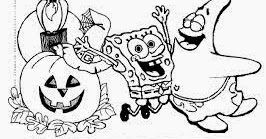 6 New Spongebob Halloween Coloring Pages