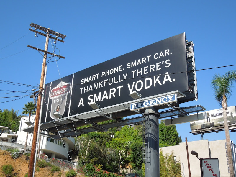 Sobieksi smart vodka billboard