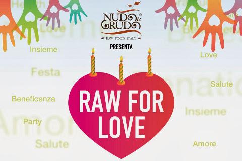 raw for love :  iniziativa benefit di natale per regalare un sorriso ai bambini.