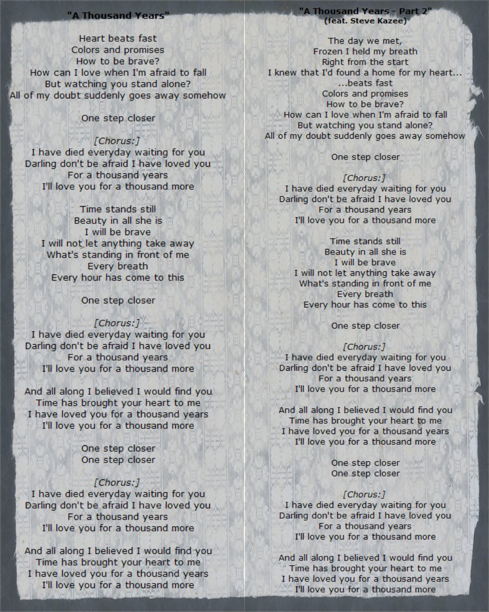 A THOUSAND YEARS CHORDS (ver 7) by Christina Perri ...
