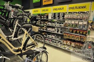 Fahrradsortiment bei føtex in Kopenhagen
