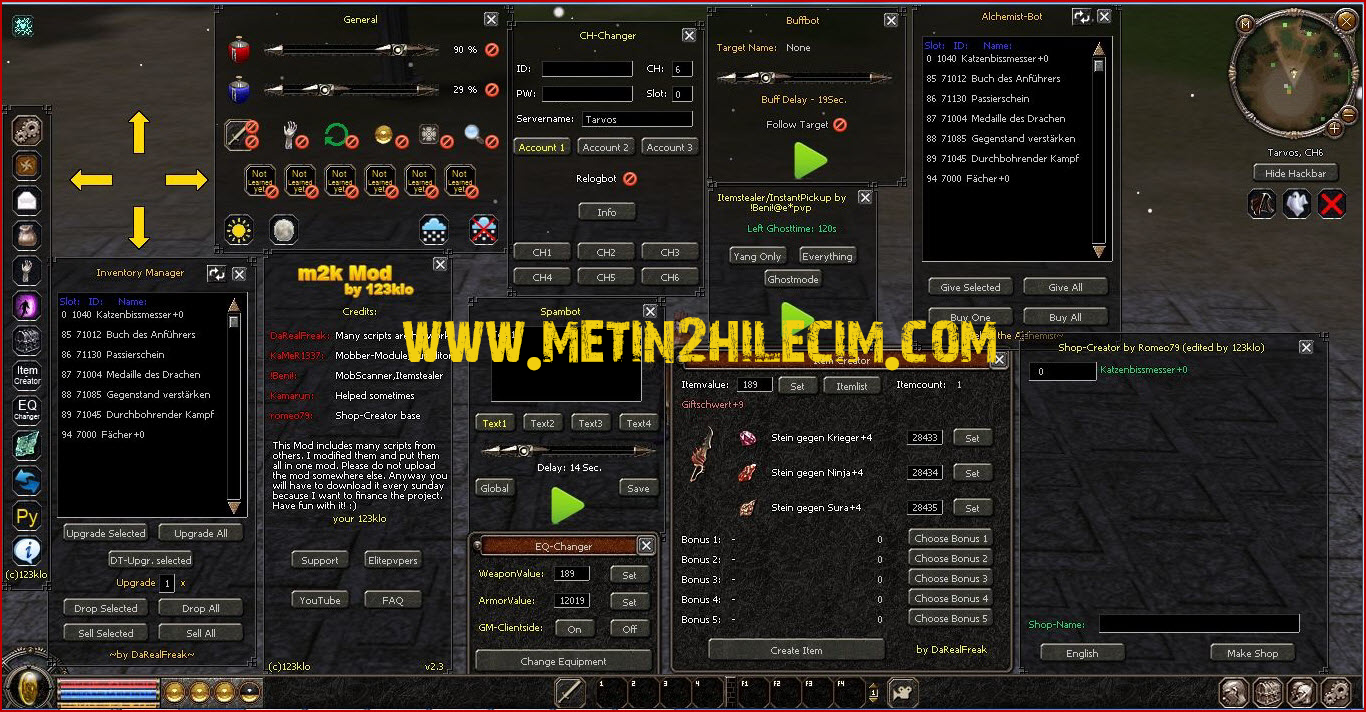 Metin2 M2k-mod Multihack Hilesi Yeni Sürüm