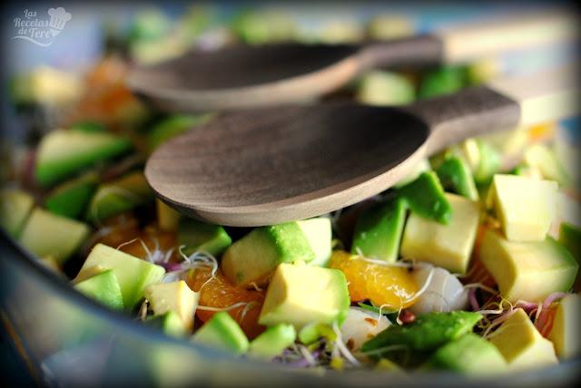 Ensalada exotica de brotes, liches y mandarina tererecetas 04