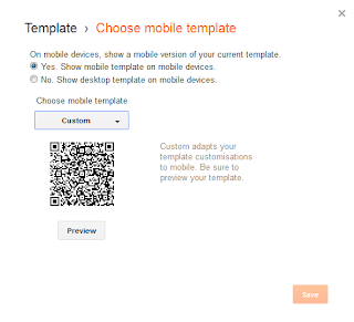 Blog Mobile Setting