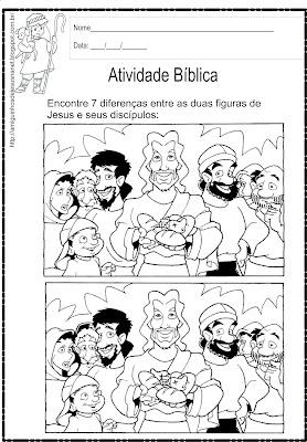 Atividade Jesus e seus discípulos - 7 erros