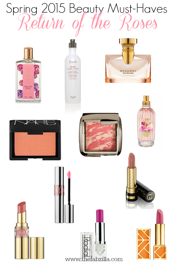 Spring 2015 Beauty Must-Haves, Spring 2015 Beauty Trend, Roses,Makeup, Fragrance, Skincare