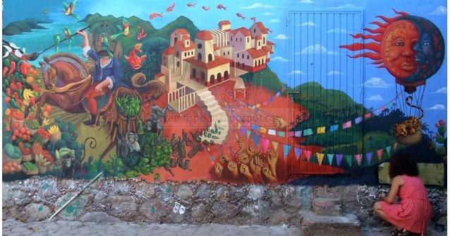 Memek basah menarik keindahan lukisan dinding mural di for Mural untuk kanak kanak