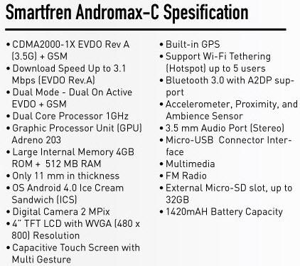 Smartfren Andromax C Hisense AD686 G ponsel Android 700 ribuan