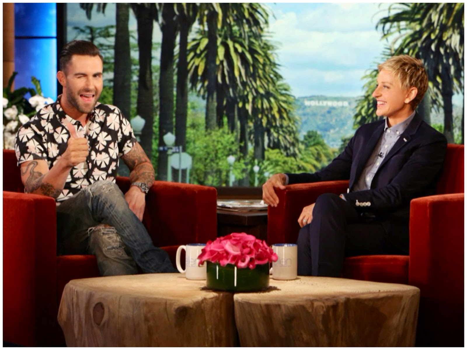Adam Levine in Marc by Marc Jacobs - The Ellen DeGeneres Show