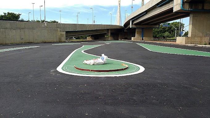 Construção das zebras da pista RioNitro