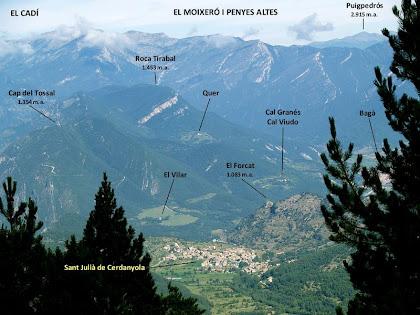 Vista dels cims que envolten Sant Julià de Cerdanyola