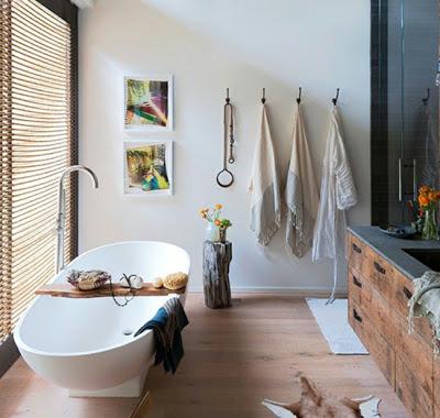 baño rústico