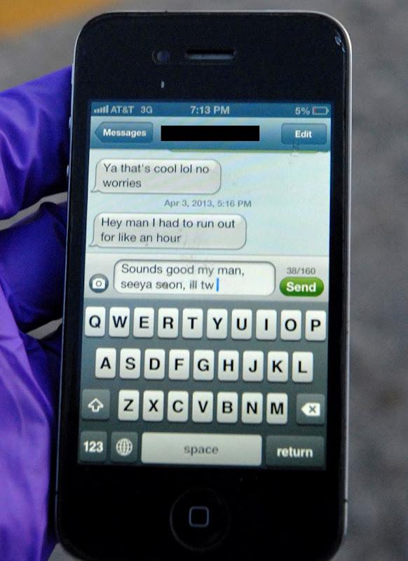 iPhone med SMS fra trafikdræbt. Hans sidste ord!