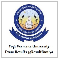 YVU Yogi Vemana University Kadapa BEd Results 2015