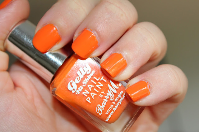 NOTD - Barry M Hi-Shine Gelly in Mango