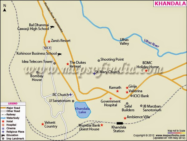 Tourist Map of Khandala