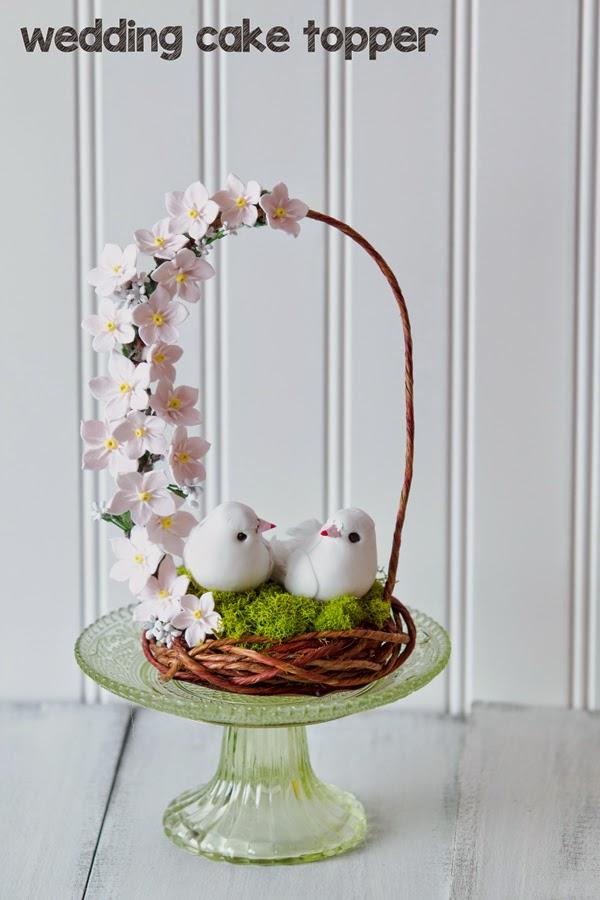 bird nest cake wedding nest flower sugar