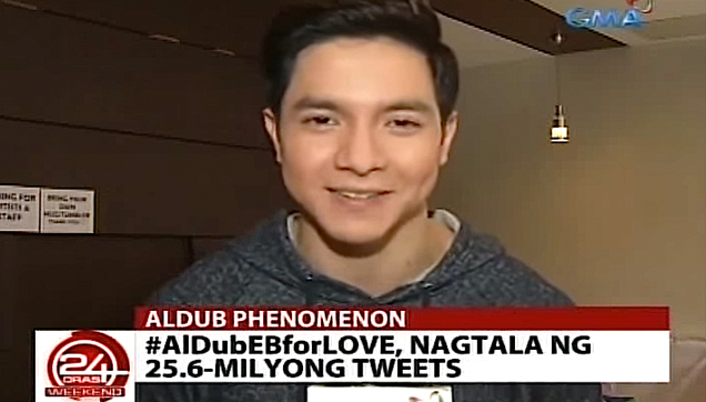 Alden Richards, Interview after ALDubEBforLOVE Kalye Serye episode