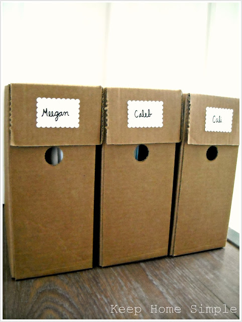 Keep Home Simple Organizing Children 39 S School Work