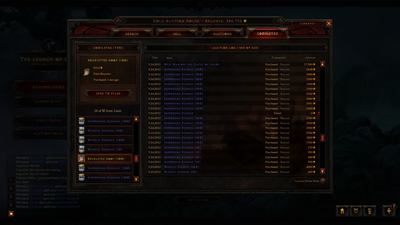 Diablo 3 gold guide stockpile crafting materials for Diablo 3 crafting items