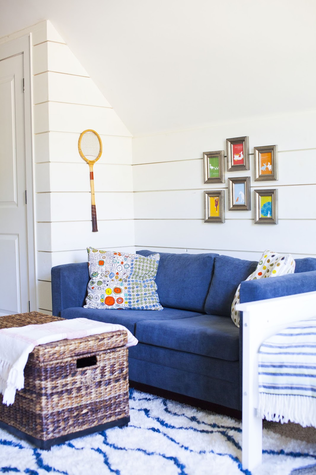 a couch makeover: a hangout spot in the boys\' room - Design Post ...