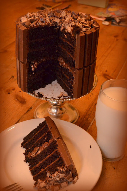 ... Kit Kat Birthday Cake Featuring My Favorite Chocolate Cake Recipe