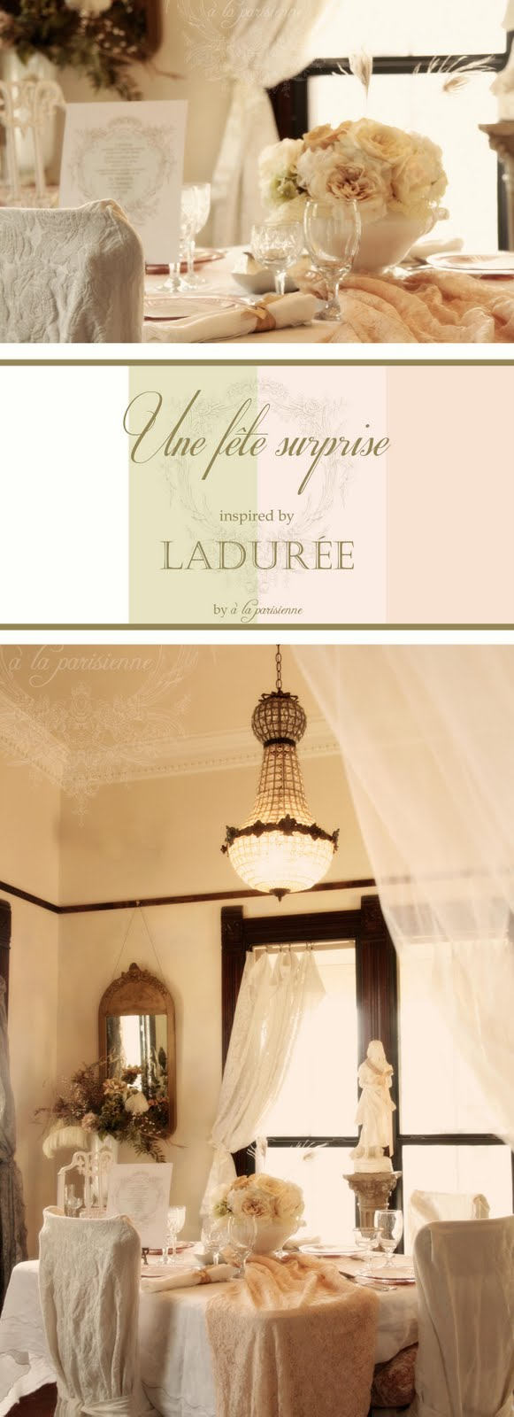 Ladurée-inspired fête surprise-The Décor