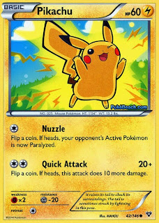 Pikachu Pokemon X and Y Card