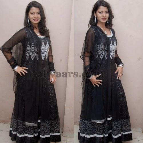 Pooja Black Long Salwar