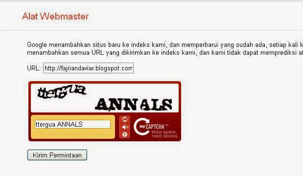 Submit Url Artikel di Google Submit Url
