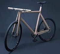 Деревянный велосипед, изготовленный из сплошного массива ясеня